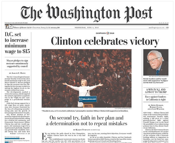 The Washington Post front page k