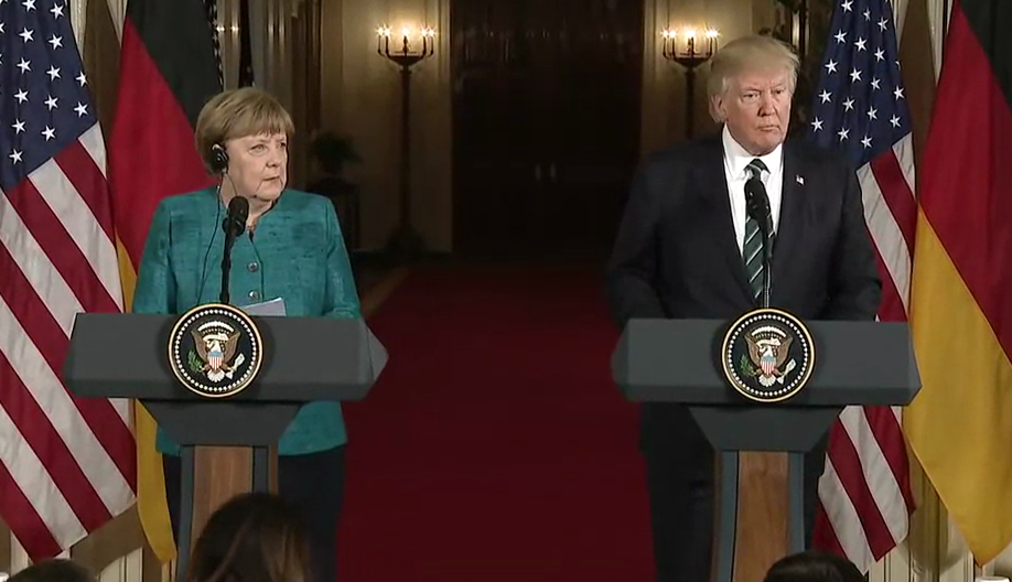 Angela Merkel Donald Trump 2017 03 17 cropped