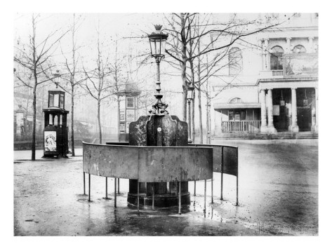 french photographer vespasienne public urinal on the grands boulevards paris c 1900 b w photo 2