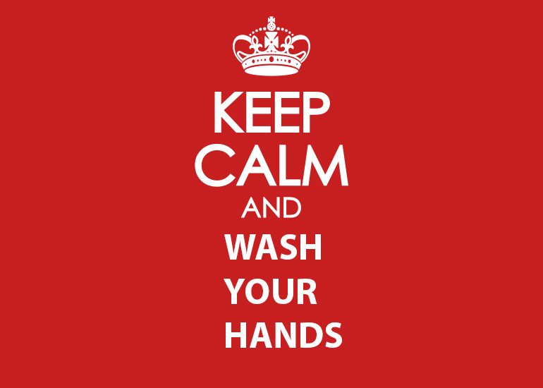 keep calm and wash
