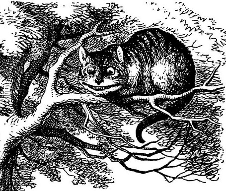 john tenniel cheshire cat grinning in alices adventures in wonderland